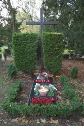 Father  Jarzebowski's grave  in Fawley Court before the exhumation