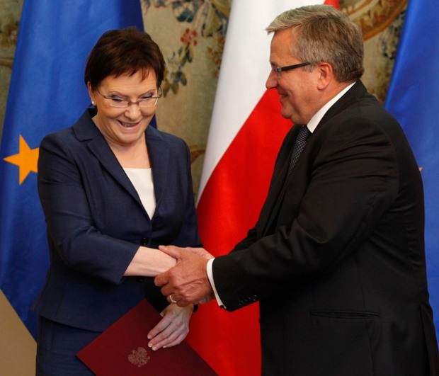 Bronislaw Komorowski ,Ewa Kopacz
